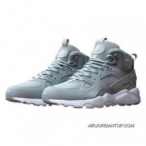 reputable site 73d61 00a2c Nike Air Huarache High Top Grey/White Mens Shoes Copuon in ...