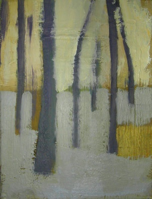 'Tuileries walk' by Scottish painter Michael G. Clark (b.1959). Oil on linen, 8 x 10 in. via the artist's site