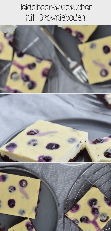 Heidelbeer-käsekuchen Mit Brownieboden