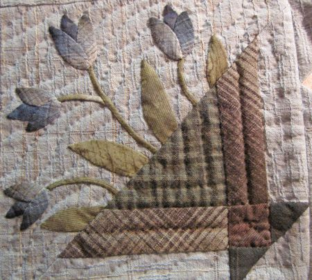 I would love to gather Japanese taupes to make a classic basket quilt with a Japanese twist.