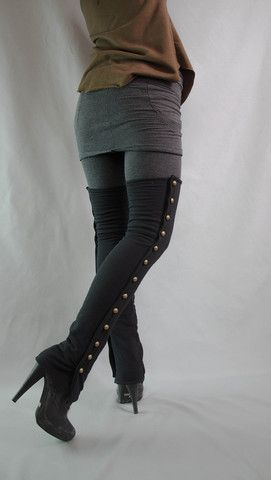 Button Down Bamboo Leg Warmers