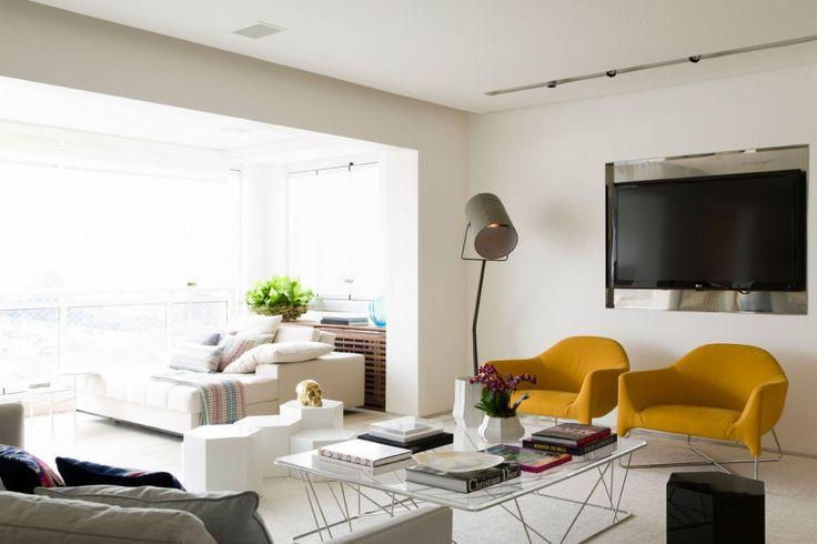 Apartamento panamby diseño interior neutro y pisos de travertino ...