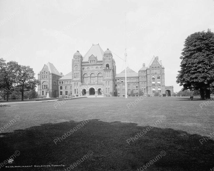 Parliament Buildings Toronto 1901 Vintage 8x10 Reprint Of Old Photo