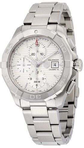 Tag Heuer Aquaracer Chronograph Automatic Silver Dial Stainless Steel Men's Watch CAY2111.BA0927