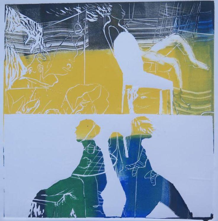 """Saatchi Art Artist Golnaz Afraz; Printmaking, """"Les autres"""" #art"""