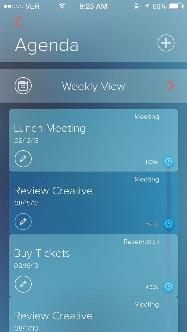 Agenda app #ux #mobile #ui
