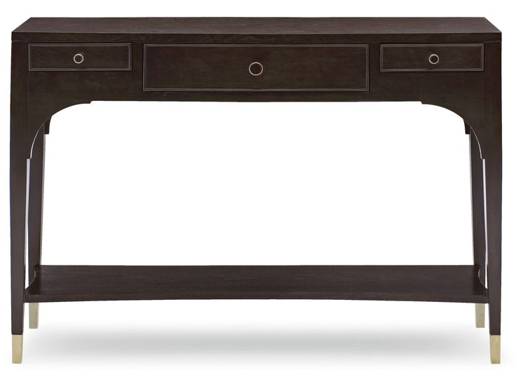 346-912R W 48 D 15 H 34 Haven Console Table | Bernhardt $1187.50 #DarkFinish #4Foot #Shallow