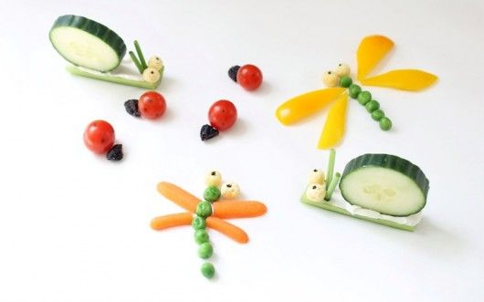 How to make simple veggie bugs to get kids to eat healthy.