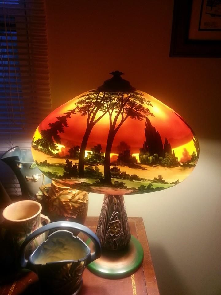 221 Best Images About Reverse Painted Glass Lamps On