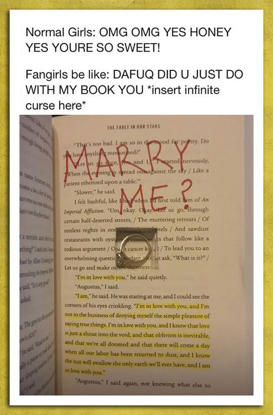 Marrying a fangirl.