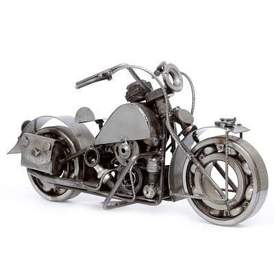 Real Car Part Created Soldier's Bike