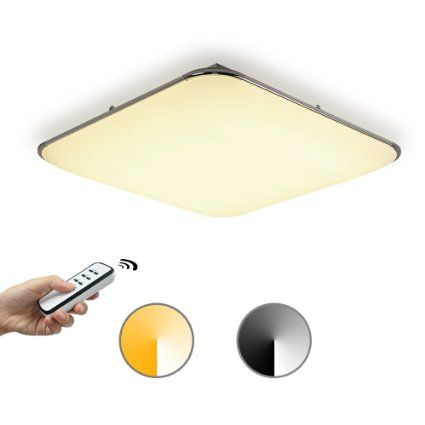 Kusun® Modern 30W LED Ceiling Lights remote control(2800K-6500K Dimmable), Flush Mount Ceiling Lights,Flush Ceiling Lights for Living Room, Bedroom, Dining Room CL8003-30W-3