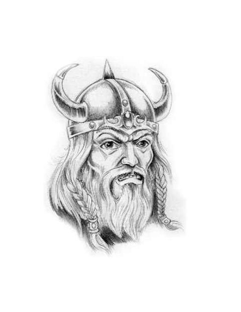 The 35 best Viking Head Tattoo Drawings images on ...