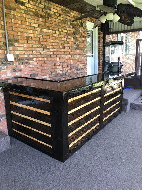 Pallet Bar Etsy Outdoor Wood Bar Diy Outdoor Bar Pallet Furniture Outdoor