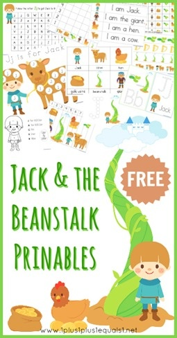 Jack and the Beanstalk Free Printables (Printable Pack, Early Reader, and more resources) loads of printables!!