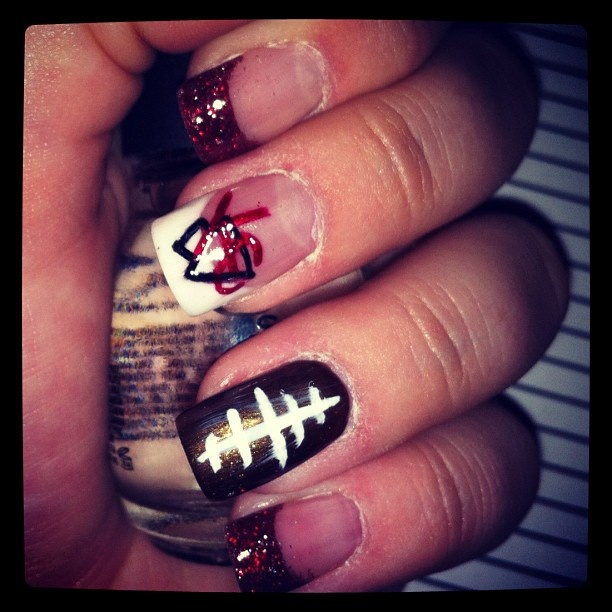 Kansas City Chiefs Nails Pictures to Pin on Pinterest - ThePinsta
