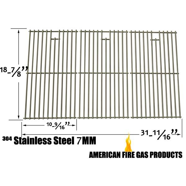 3 PACK STAINLESS STEEL COOKING GRID FOR BAKERS AND CHEFS Y0101XC, BRINKMANN 810-1575-W AND CHARBROIL 463241004 GAS GRILL MODELS Fits Compatible Bakers and Chefs Models : Y0101XC, Y0202XCNG Read More @http://www.grillpartszone.com/shopexd.asp?id=34727&sid=34960