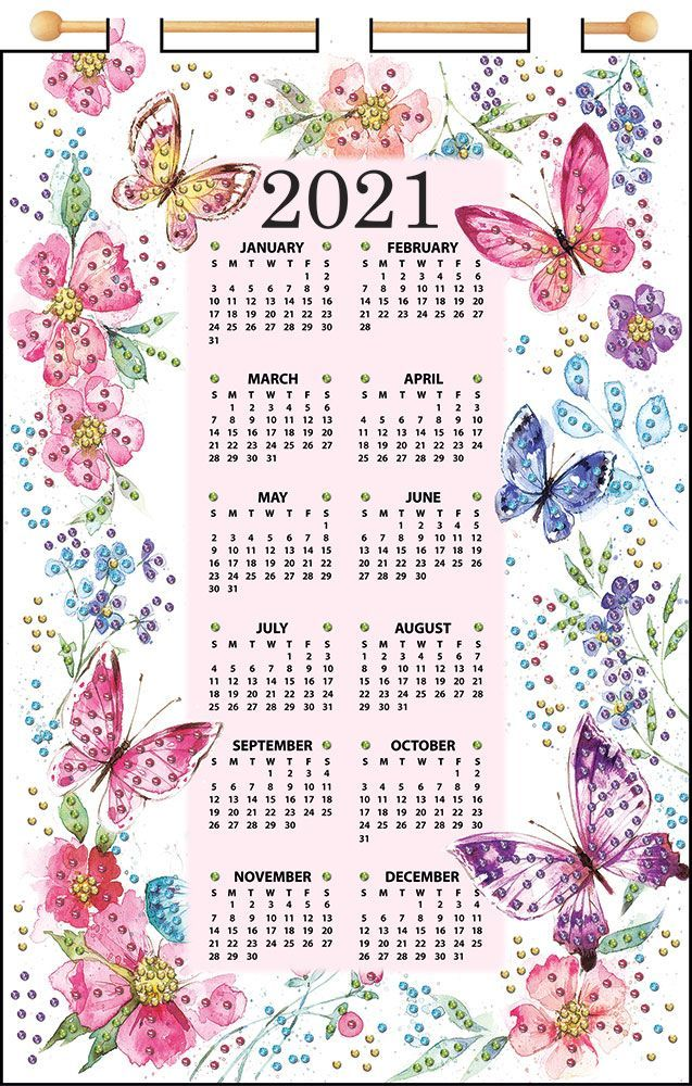 Mary Maxim   Butterflies 2021 Felt Calendar   Calendars   Crafts