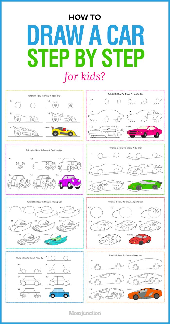 how to draw a simple car for kids