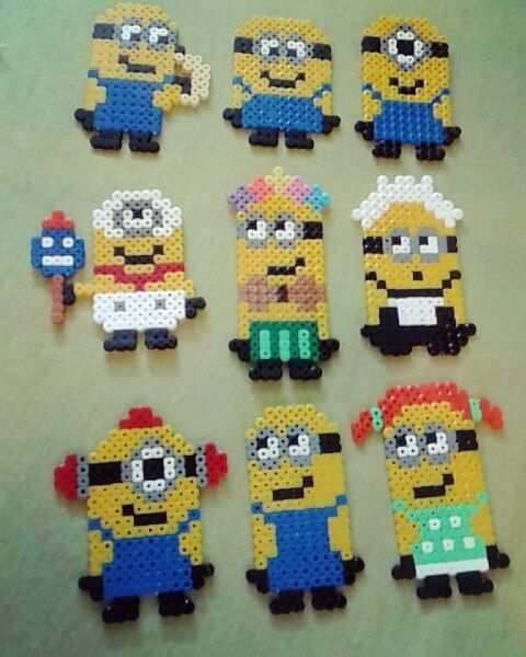 Minions hama beads by rikke_sostack