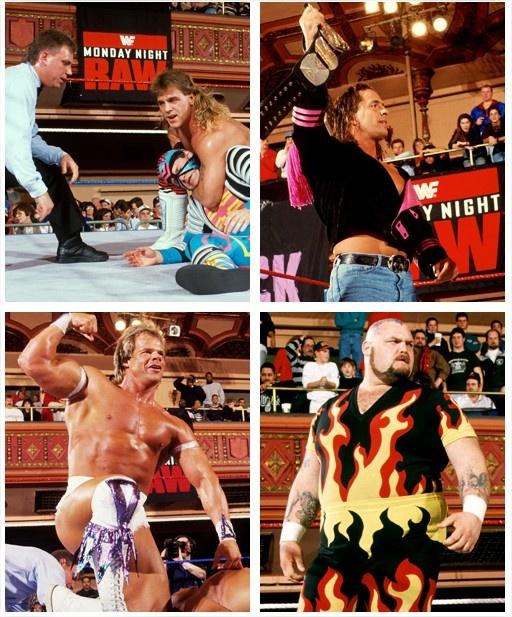 Shawn Michaels, Bret Hart, Lex Luger y Bam Bam Bigelow
