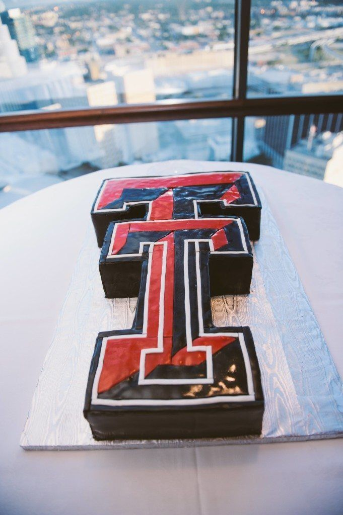 Texas Tech University double T cake - Cake by Sugar Bee Sweets - Photo by Nicole Berrett Photography