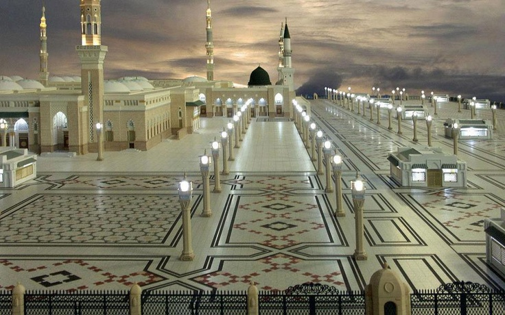 """OP: """"My second favorite building in the world. Al-Masjid al-Nabawi, or the Prophet's Mosque in Medina, Saudi Arabia. I don't know why, but when I see this, this is what I think Heaven would look like. Sounds crazy, and I can't explain it, but that's what I see."""""""