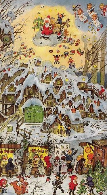 Christmas in Gnometown (size ???) Advent calendar.