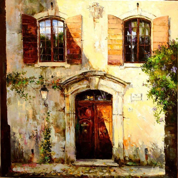 Russian artist Gleb Goloubetski | Tuscany 120x120