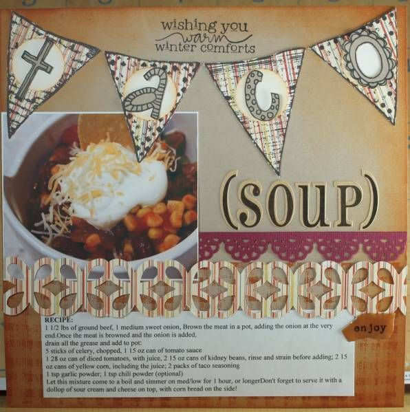 Taco Soup Recipe Page by NoraAnne - Cards and Paper Crafts at Splitcoaststampers