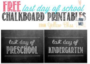 free end of school year prints