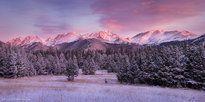 winter, colorado, rocky mountain national park, mummy range, snow, cold, pastel by photographer ERIK STENSLAND