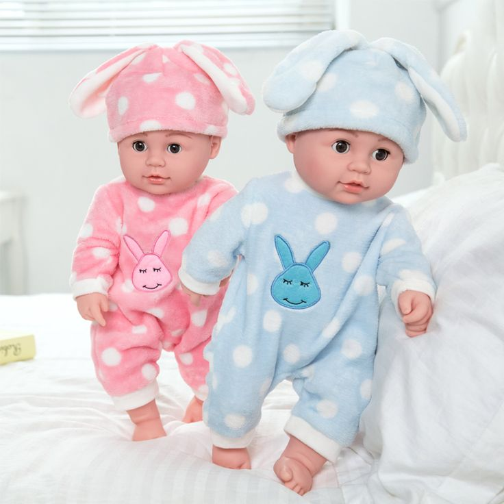 Reborn Baby Doll kids Play mate Gift For Girls 18 Inch Baby Alive Soft Toys Baby Doll Bebe Reborn Doll Rabbit