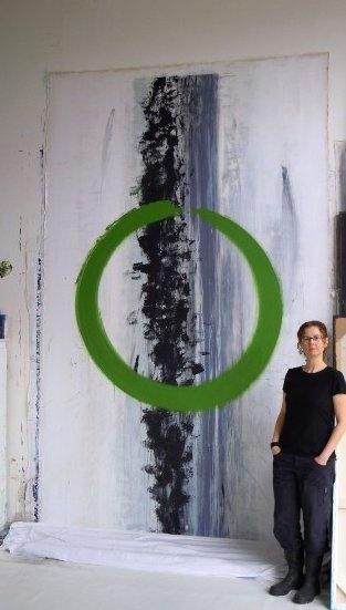 Contemporary abstract paintings ~Marta Baricsa #art #abstract #painting #artstudio