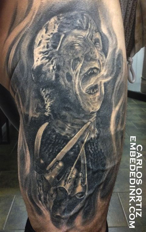Freddy krueger from nightmare on elm street tattoo by for South street tattoo