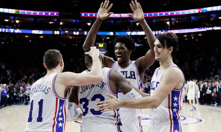 76ers lead the way in NBA All-Rookie Team selections = If there weren't already enough reasons for the Philadelphia 76ers to be excited about the 2017-2018 season, news of Dario Saric and Joel Embiid both being selected to the 2016-2017 NBA All-Rookie First Team made.....