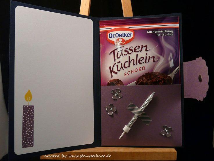 Anleitung karte tassenkuchen stempelhexe