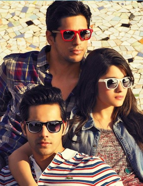 Cast of Student of the Year Alia Bhatt, Varun Dhawan, and Sidharth Malhotra