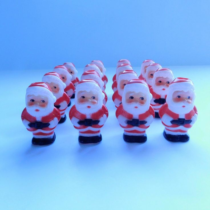 Vintage Santa Claus Christmas Light Covers Only Lot Of 16
