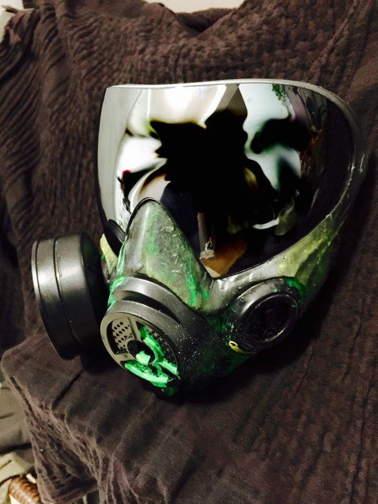 Custom i4 Gas Mask Paintball  by BONESm4sk on Etsy https://www.etsy.com/listing/229808937/custom-i4-gas-mask-paintball