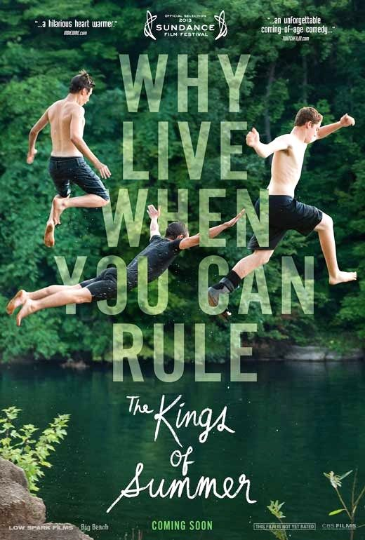 The Kings of Summer (2013) | Joe, Patrick and the eccentric and unpredictable Biaggio decide, in the ultimate act of independence, to spend their summer building a house in the woods and living off the land. Free from their parents' rules, their idyllic summer quickly becomes a test of friendship as each boy learns to appreciate the fact that family - whether it is the one you're born into or the one you create - is something you can't run away from.