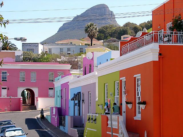 Bokaap houses in Cape Town