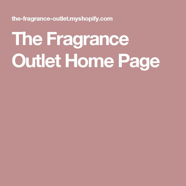 The Fragrance Outlet Home Page
