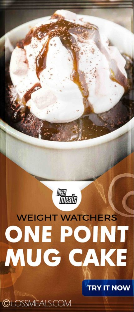 WW RECIPES Archives | loss MEALS | Weight watcher mug cake ...