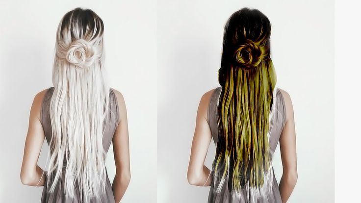 Change White Hair in to Black color   /  Natural Hair treatment