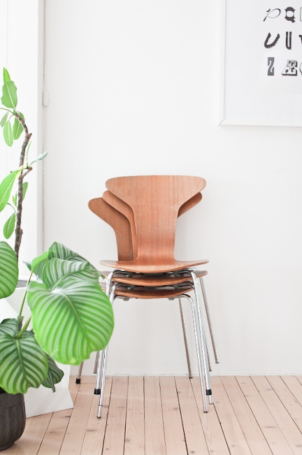 Arne Jacobsen chairs in my home