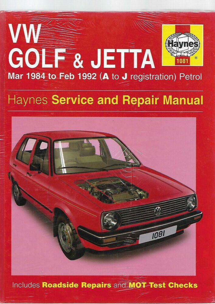 New Sealed Haynes Vw Golf Jetta Mk2 Service And Repair Manual 16 Valve Van Repair Manuals Repair Vw Golf