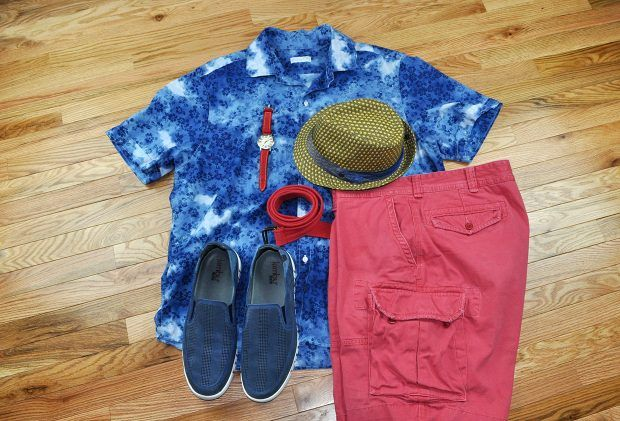Stylish backyard BBQ outfit featuring #JambuFootwear! #mensfashion