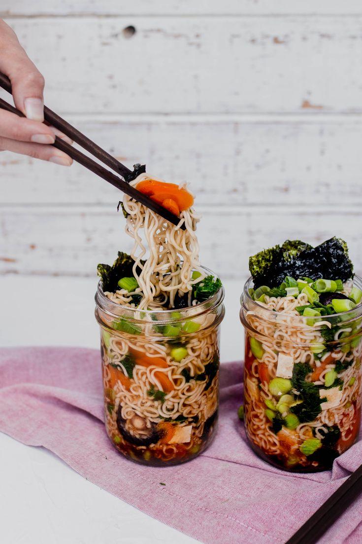 Mason Jar Ramen (Easy Vegan Lunch Ideas)   Two Market Girls