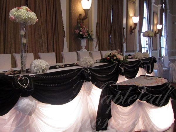 Love this table draping  Wedding  White wedding